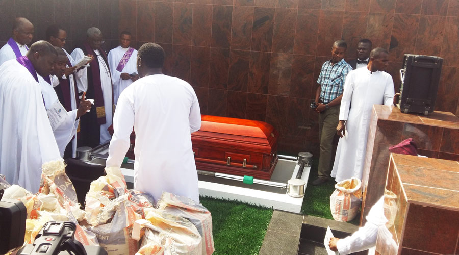 Prof Wensley Mobolaji Fowler Burial at Vaults and Garden