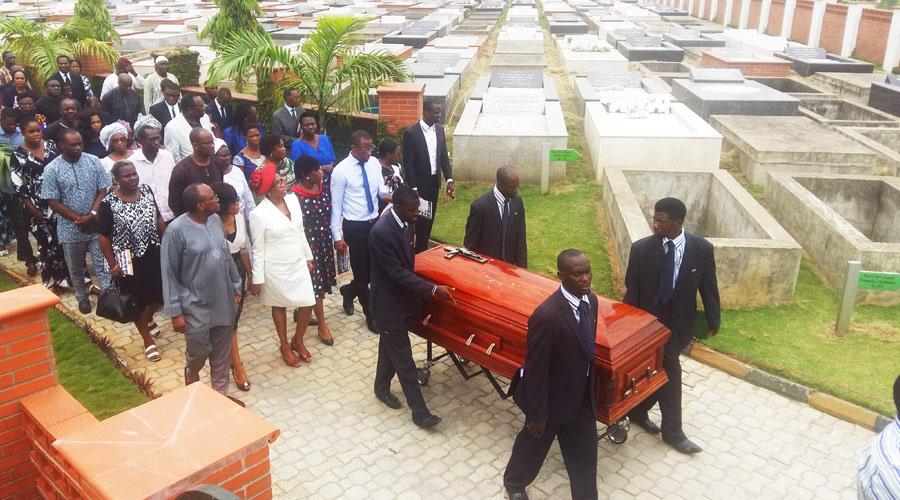 Adebola Adetayo Omoteso Burial at Vaults and Gardens