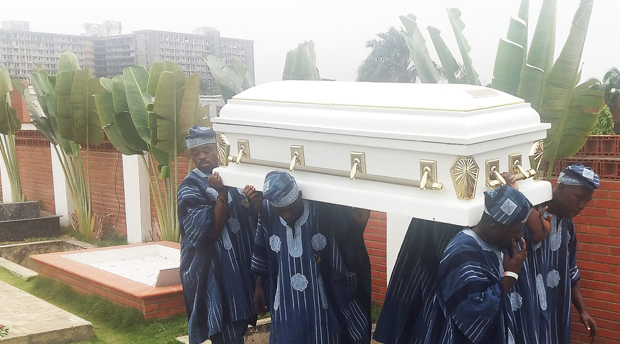KUKOYI AGBOOLA Burial at Vaults and Gardens