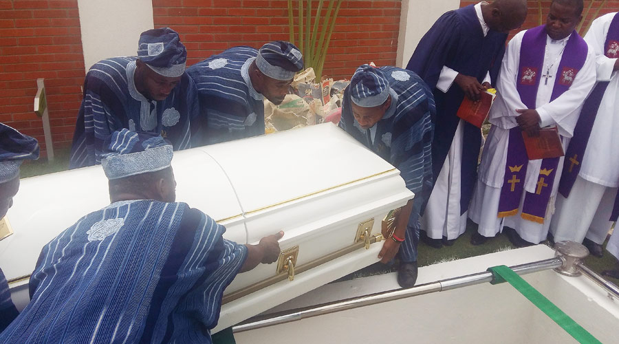 KUKOYI AGBOOLA Burial at Vaults and Gardens