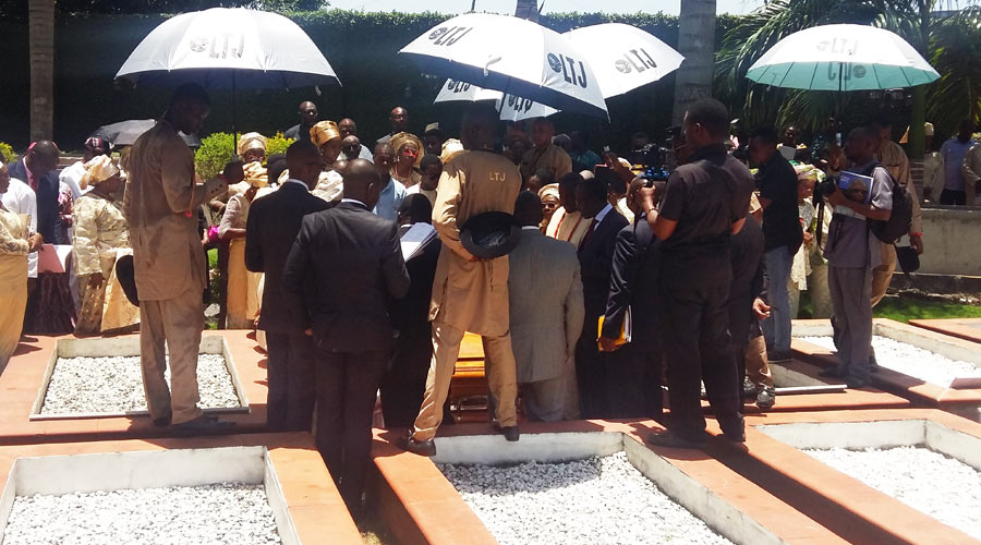 Esisi Jackson Big Burial at Vaults and Gardens