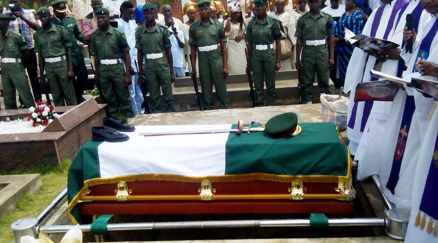 General Ibukunle, Black Scorpion burial at Vaults and Gardens